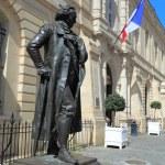 ������, ������: Francisco de Goya statue near Chambre R