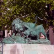 Statue from animal serie by Auguste Cain (1822-1894) in Jardin des Tuileries (The Tuileries Garden), Paris, France - Stock Photo
