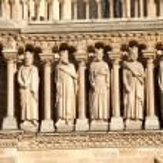 KIngs statues, Cathedral Notre Dame de Paris (1160-1345), Paris, — Stock Photo