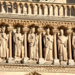 KIngs statues, Cathedral Notre Dame de Paris (1160-1345), Paris, — Stock Photo