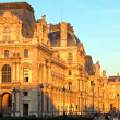 Louvre museum before sunset, Paris, France - Stock Photo