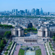 Skyscrapers of La Défense, a major business district - aerial view from Eiffel Tower, Paris, France — Stock Photo