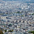 Foto Stock: La Cite island with Notre Dame de Paris - aerial view from Eiffel Tower, Paris, France