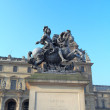 Equestrian statue of Louis XIV , Paris, France — Stock Photo