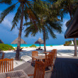 Beach cafe, Ari-Atoll. Maldives — Stock Photo #12854457
