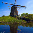 Windmill near Amsterdam, Netherlands — Stock Photo