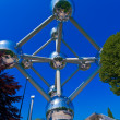 The Atomium (1958) designed by André Waterkeyn in Heysel Park, Brussels, Belgium — Stock Photo