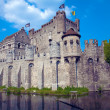 Gravensteen, medieval castle built in 1180 by count Philip of Alsace, Ghent, Belgium — Stock Photo #12854589