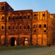 The Porta Nigra, view from south, Trier, Germany - Stock Photo