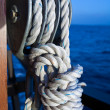 Vessel part with rope — Stock Photo