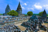 Prambanan Hindu temple (IX cent.), UNESCO World Heritage Site, Yogyakarta, Java, Indonesia — Foto de Stock