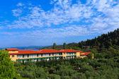 Hotel v sithonia, chalkidiki, řecko — Stock fotografie
