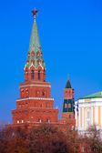 Borovitskaya tower, Kremlin, Moscow, Russia — Stock Photo