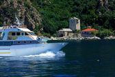 Port Dafna, Athos Peninsula, Mount Athos, Chalkidiki, Greece — Stock Photo