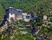 Simonopetra Monastery, Athos Peninsula, Mount Athos, Chalkidiki, Greece — Stock Photo