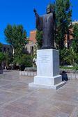 Monument av arch-biskop damaskinos, Aten, Grekland — Stockfoto