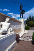 Monument of king Leonidas and 300 spartans, Thessaly, Greece — Stock Photo