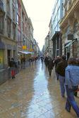Yağmurlu bir günde, rue ste catherine, bordeaux, Fransa — Stok fotoğraf