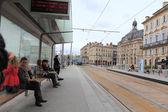 在波尔多,法国现代有轨电车 — 图库照片