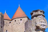 Main entrance (porte narbonnaise), Carcassonne, France — Stock Photo