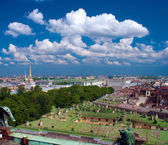 View from top of St. Isaac's Cathedral, Saint Petersburg, Russia — Stock Photo