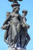 Fontaine des Trois Grâces on Place de la Bourse, Bordeaux, France — Stock Photo