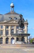 Fontaine des Trois Grâces on Place de la Bourse, Bordeaux, Fra — Stock Photo