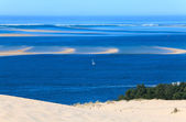View from the highest dune in Europe - Dune of Pyla (Pilat), Arc — Stock Photo