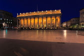 Night view of Grand Theater Bordeaux (1780, designed by Victor — Stock Photo