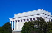 Lincoln anıtı ile açık mavi gökyüzü, washington dc, abd — Stok fotoğraf