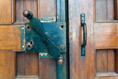 Old original lock on the door — Stock Photo