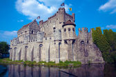 The Gravensteen, medieval castle built in 1180 by count Philip of Alsace, Ghent, Belgium — Stock Photo