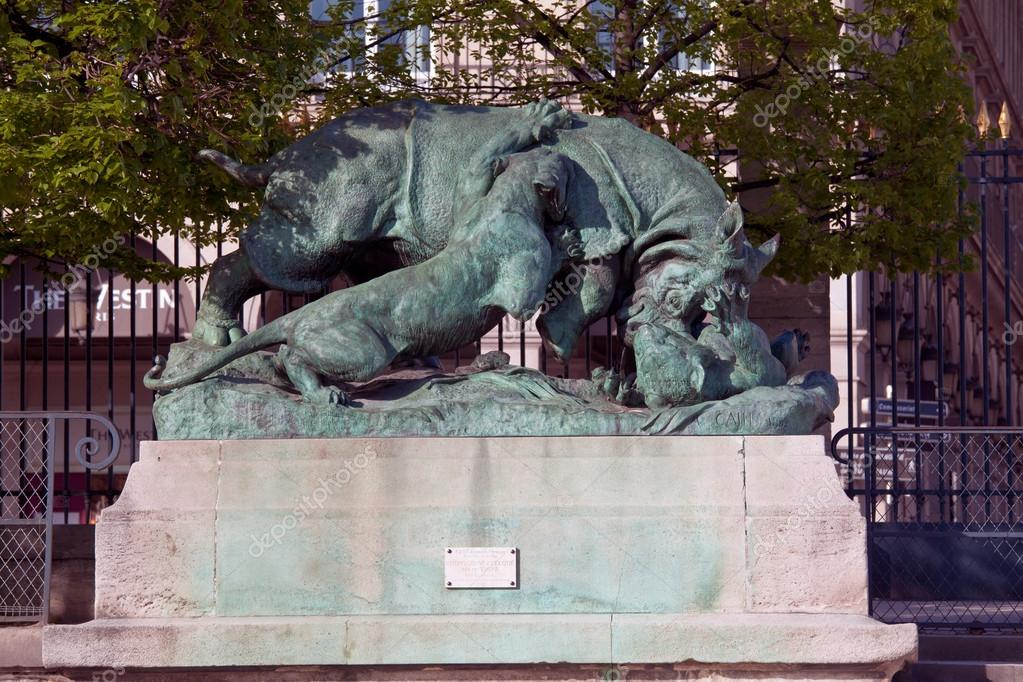 statue de serie animaux par auguste cain 1822 1894 en r. Black Bedroom Furniture Sets. Home Design Ideas