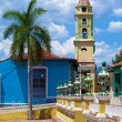 Iglesia de San Francisco de Asisin the old town, Trinidad, Cuba - Stock Photo