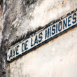 Vintage Sign of name of street, Havana, Cuba — Stock Photo