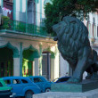 Lion statues on Paseo del Prado, Havana - Stock Photo