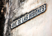 Vintage Sign of name of street, Havana, Cuba — Stock Photo