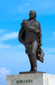 Statue of the Venezuelan revolutionary Francisco de Miranda — Stock Photo