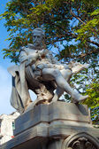 Statue of Miguel de Cervantes Saavedra (XIX c.), Havana, Cuba — Stock Photo