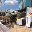 Souvenir shops on streets of Trinidad, Cuba — Stok Video #12884089