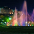 Time lapse: fountain and New Fortress at evening, Kerkyra, Corfu, Greece — Video Stock