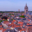 Stock Video: View from Nieuwe on Oude kerk, Delft, Netherlands