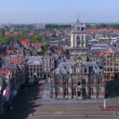 View from Nieuwe Kerk on Stadhuis, Delft, Netherlands - Stock Photo