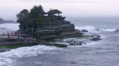 Tanah-Lot temple, UNESCO heritage site, Bali, Indonesia — Stock Video
