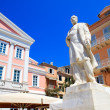 View of Heroes of Cypriot Struggle Square, Corfu, Greece — Stock Photo