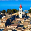 Aerial view from New fortress Kerkyra, Corfu island, Greece — Stock Photo #13210886