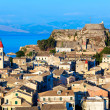 Aerial view from New fortress Kerkyra, Corfu island, Greece — Stock Photo #13210895