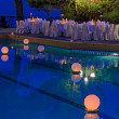 Floating water lantern in the pool — Foto Stock