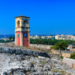 English tower Inside old fortress, Kerkyra, Corfu island, Greece — Stock Photo