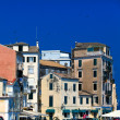 Typical buildings in old city, Kerkyra, Corfu island, Greece — Stock Photo